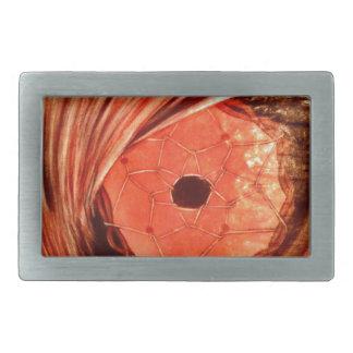 Naranja del ojo del lobo hebillas cinturón rectangulares