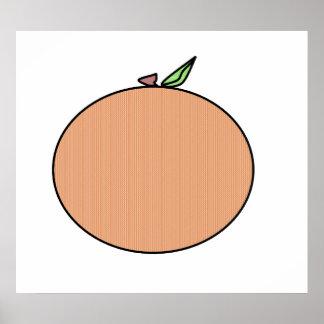 Naranja del país en tela escocesa posters