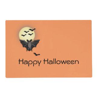 Naranja del palo de Halloween Salvamanteles