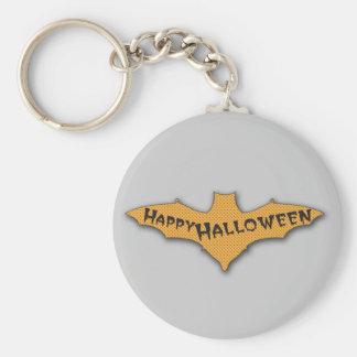 Naranja del palo del feliz Halloween Llavero Personalizado