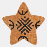 Naranja del paño del fango calcomanías forma de estrellas