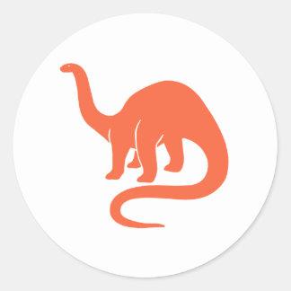 Naranja del pegatina del dinosaurio