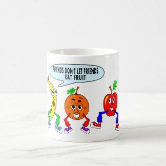 naranja del plátano de manzana de la taza que