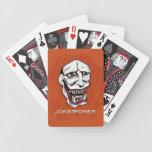 Naranja del póker del comodín baraja cartas de poker
