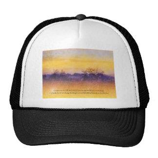 Naranja del rezo de la serenidad y campo de la púr gorras