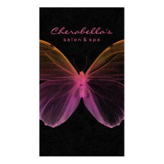 Naranja del rosa de la mariposa del balneario de l tarjetas de visita