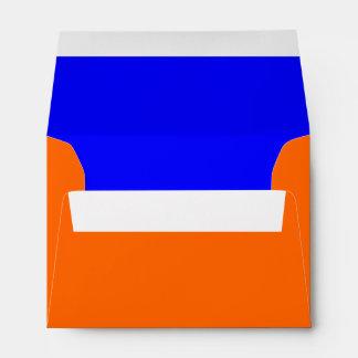 Naranja del sobre A6/azul de los derechos