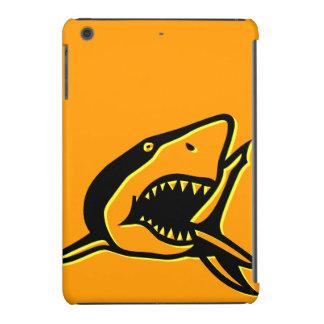 Naranja del tiburón fundas de iPad mini retina