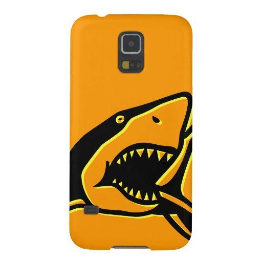 Naranja del tiburón funda galaxy s5