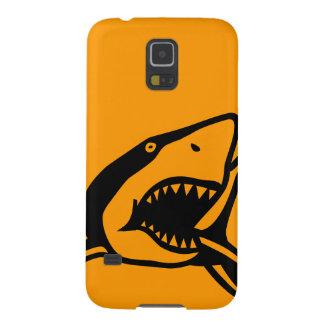 Naranja del tiburón fundas para galaxy s5