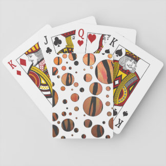 Naranja del tigre e impresión calientes del negro baraja de cartas