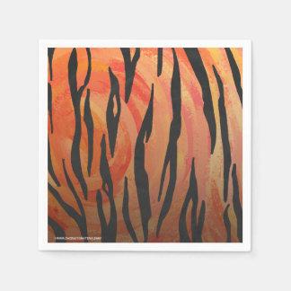 Naranja del tigre e impresión calientes del negro servilletas desechables