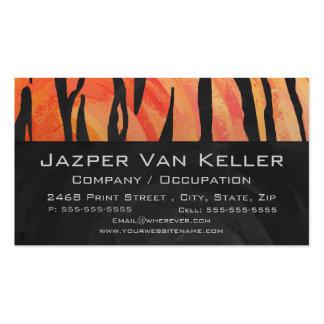 Naranja del tigre e impresión calientes del negro tarjeta personal