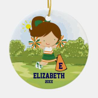Naranja del verde del ornamento del navidad del ch ornamento para arbol de navidad