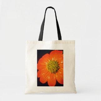Naranja después de las flores de la lluvia bolsas de mano