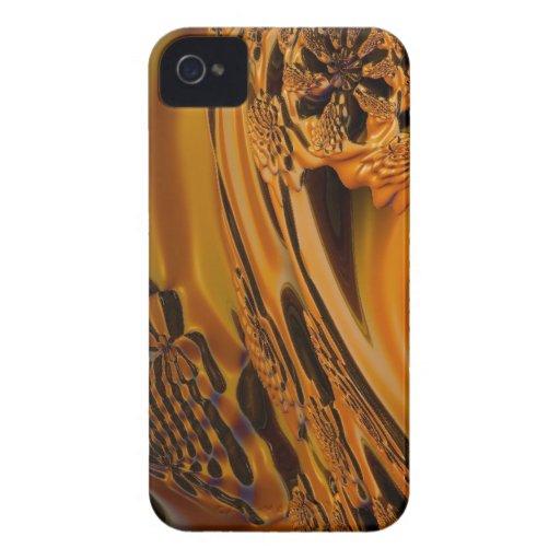 naranja digital del líquido de la sorpresa iPhone 4 Case-Mate coberturas