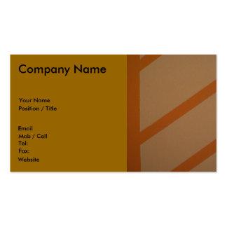 Naranja, diseño de la terracota tarjetas de visita