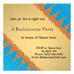 Naranja e invitación azul del fiesta
