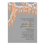 Naranja e invitación moldeada gris del boda