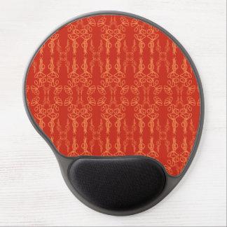 Naranja elegante en el gel rojo Mousepad del Alfombrilla De Ratón Con Gel