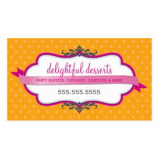 Naranja elegante lindo del rosa del fuschia de la tarjeta de visita