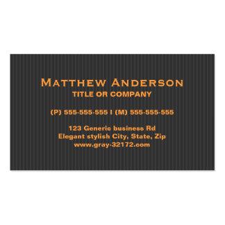 Naranja elegante moderno y profesional gris plantilla de tarjeta de negocio