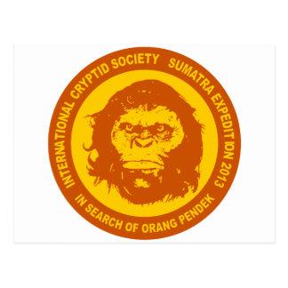 Naranja EN BUSCA de ORANG PENDEK - Sumatra Bigfoot Postales