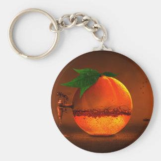 Naranja en golpecito llavero redondo tipo pin