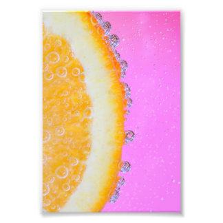 Naranja en rosa impresion fotografica