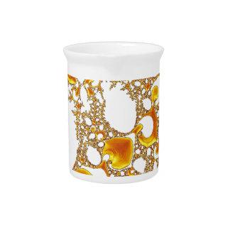 naranja especial del blanco del fractal 04 jarron