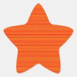 Naranja espiritual: Añada el texto del SALUDO o Pegatinas Forma De Estrellaes