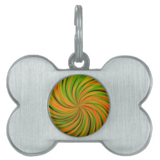 Naranja feliz, verde (c) placa de mascota