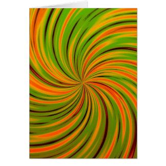 Naranja feliz, verde (c) tarjeta de felicitación