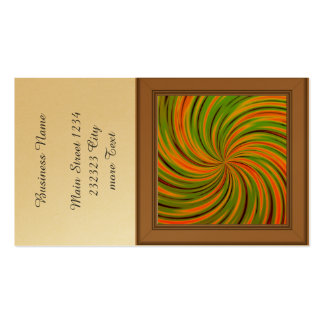 Naranja feliz, verde (c) tarjetas de visita