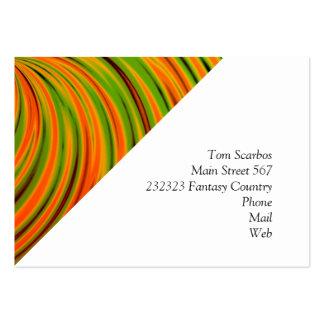 Naranja feliz, verde (c) tarjetas de visita grandes