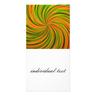 Naranja feliz, verde (c) tarjetas fotográficas