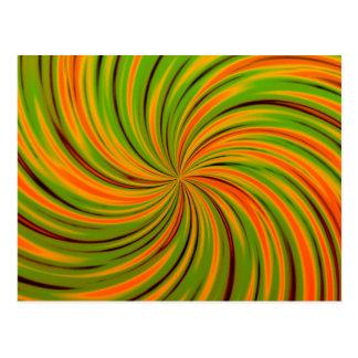 Naranja feliz, verde (c) tarjetas postales