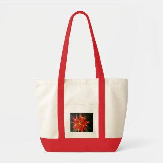 Naranja floral bolsas lienzo
