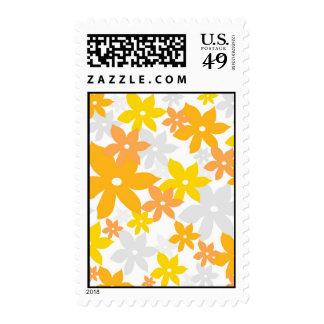Naranja floral sellos