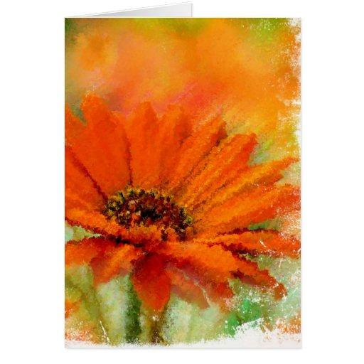 Naranja Flower-2 Tarjetas