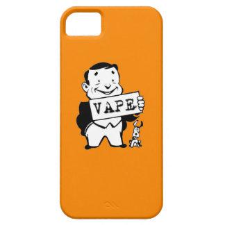 Naranja fluorescente de Vape del hombre retro Funda Para iPhone SE/5/5s