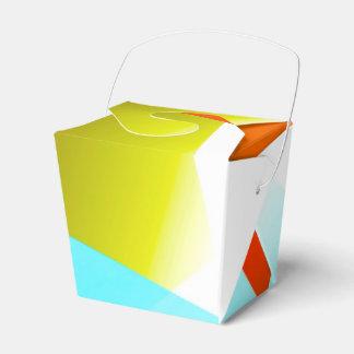 Naranja geométrico 03 cajas para detalles de boda