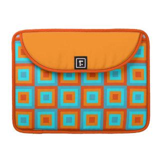Naranja geométrico de la turquesa del color de los funda para macbook pro