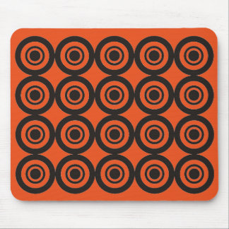 Naranja geométrico de moda fresco del cojín de tapete de raton