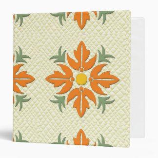 """Naranja hawaiano y amarillo del edredón de la flor carpeta 1 1/2"""""""