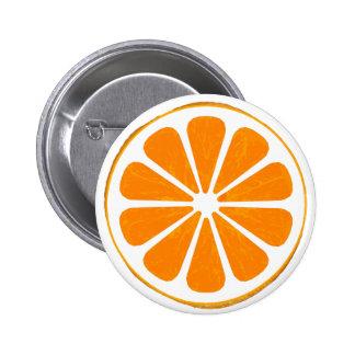 naranja. híbrido. botón chapa redonda 5 cm