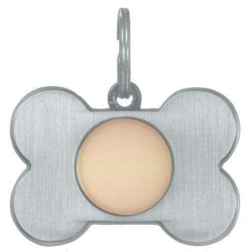 Naranja horizontal 2 - pendiente del melocotón y d placa de mascota