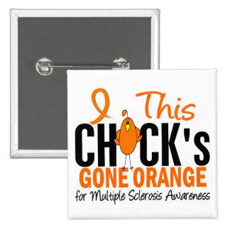 Naranja ido polluelo de la esclerosis múltiple pin cuadrado