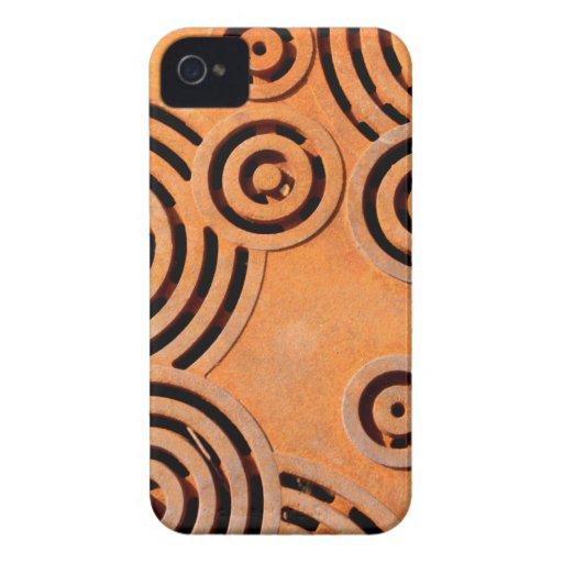 Naranja industrial Case-Mate iPhone 4 carcasa