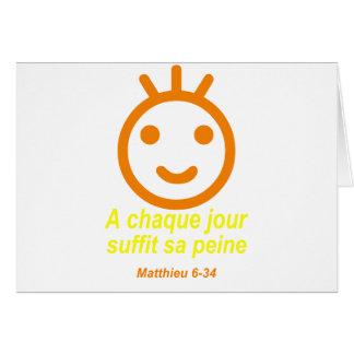Naranja Jaune de Matthieu 6-34 Smilley Tarjeton